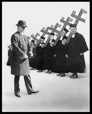 Picture of Nazi Catholic Priests from AIZ Magazine, 1934
