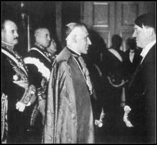 Hitler y Católico Papal Nuncio