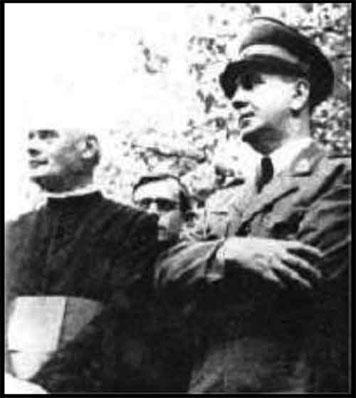 Catholic Saric with Nazi Ante Pavelic in Sarajevo