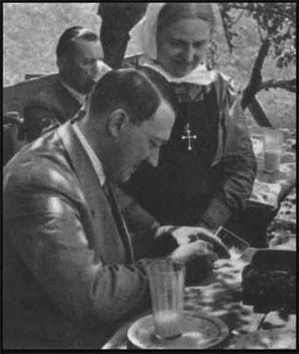 Catholic Hitler with Catholic Nun