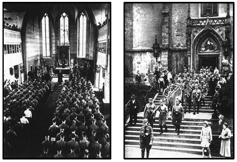 Nazi Brown Shirts attending Catholic Church