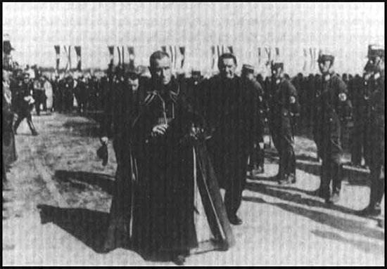 Catholic Cardinal Faulhaber marching with Nazis