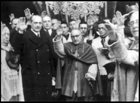Catholic Clergy saluting Hitler